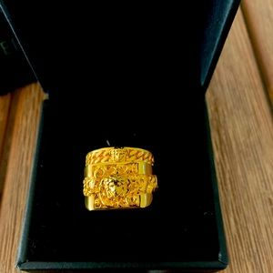 24k gold plated Versace rings.